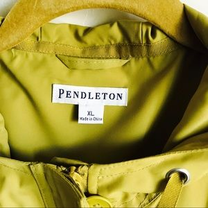 Pendleton Jackets & Coats - Pendleton Neon Green Hooded Lined Jacket Size XL